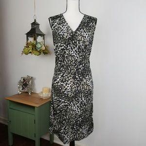 Alfani Sleeveless Dress Animal Print Bodycon Sz PS